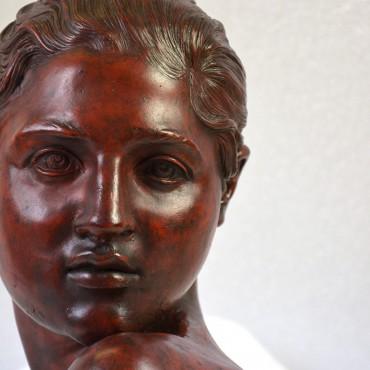 """V.Gemito """"busto di donna"""" - dettaglio dopo il restauro"""