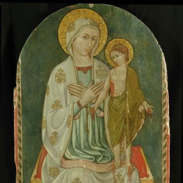 Madonna con Bambino in trono -  intero dopo il restauro