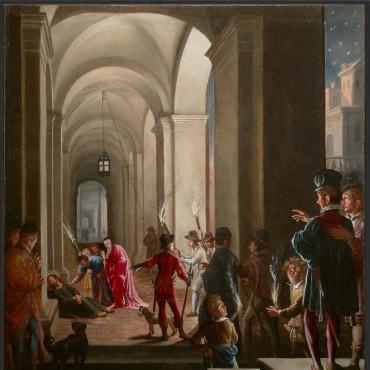 A.Commodi - Il senatore Trevisan e S.Ignazio -  intero dopo il restauro