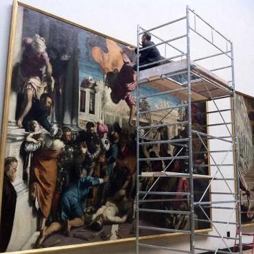 Tintoretto - durante il ritocco pittorico