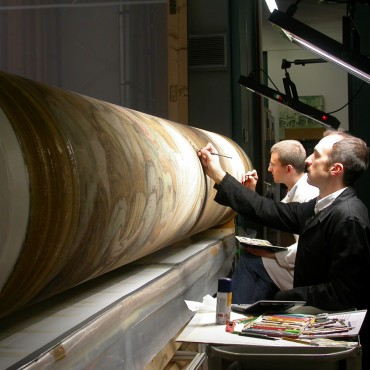 M.Ricciolini - dettaglio durante l'integrazione pittorica